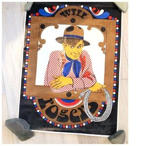 Vintage Pop Art Will Rogers Poster 1968 Poster